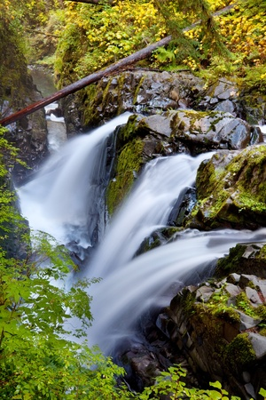 sol duc river: Sol Duc waterfall