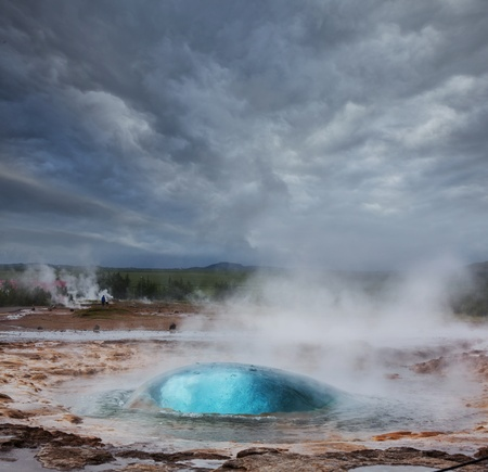Geyser in Iceland photo