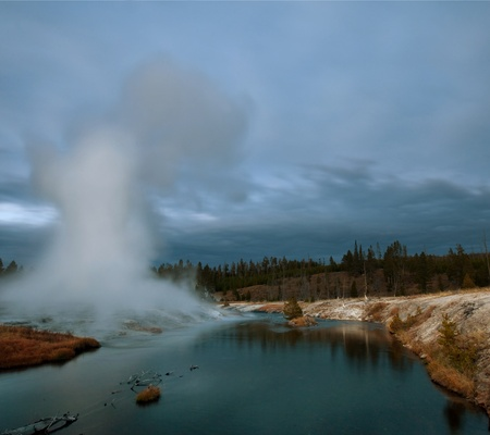 predictable: geyser in Yellowstone