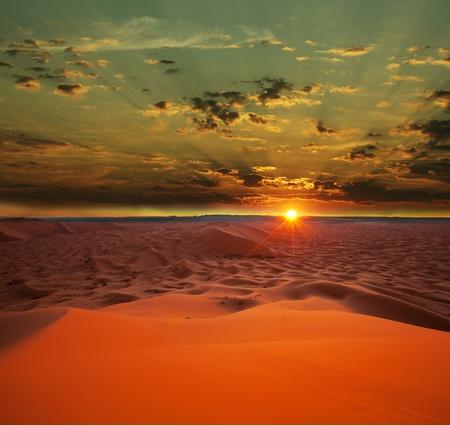 marocco: Sahara desert Stock Photo