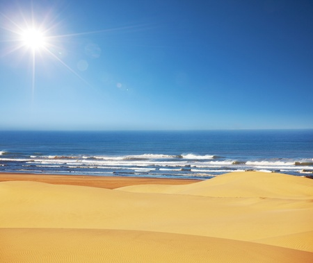 Atlantic coast in Western Sahara,Morocco photo