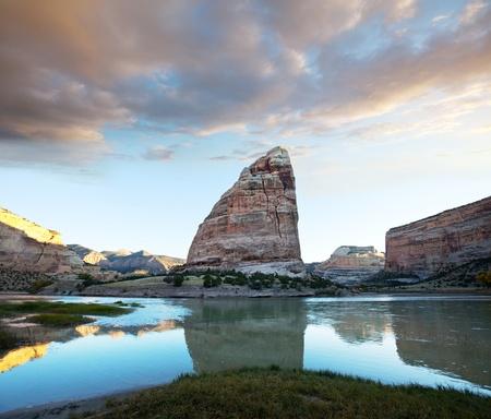 Green river in Dinosaur National Park photo
