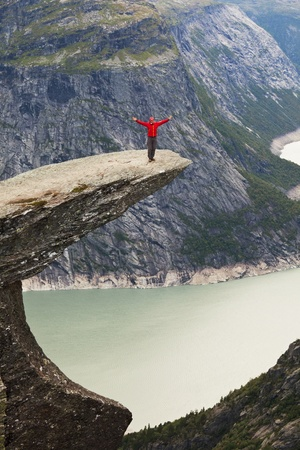 wilderness area: hike in Norway mountains Stock Photo