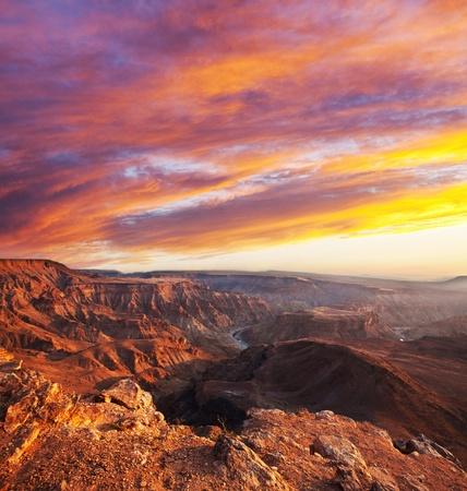 Fish canyon in Namibia Фото со стока