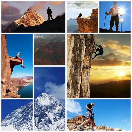 escalando: senderismo collage