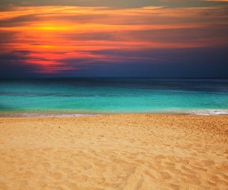 sunset beach: sea sunset
