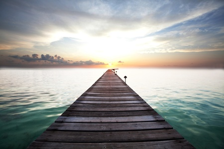 Boardwalk on beach Stock Photo - 13202333