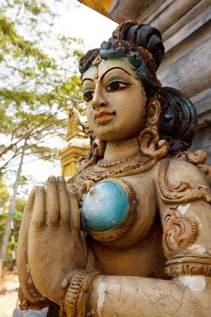 Ancient  Hinduism god sculpture on Sri Lanka photo