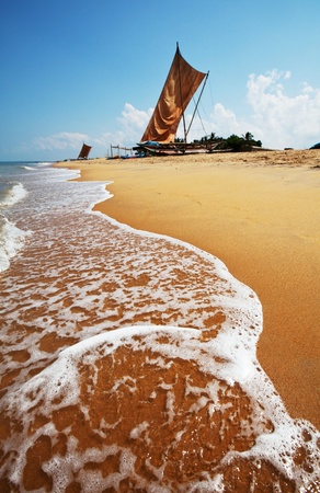 Fishing boat on  Sri Lanka photo