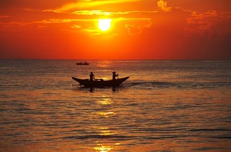 Fishing boat on  Sri Lanka photo