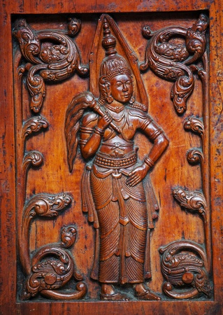 wooden carving photo