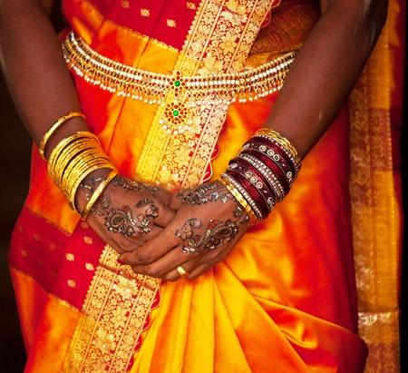 wedding pattern on hands Stock Photo