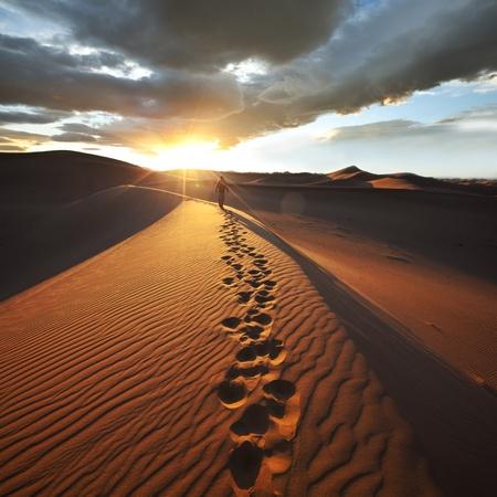hike: Hike in Namib desert