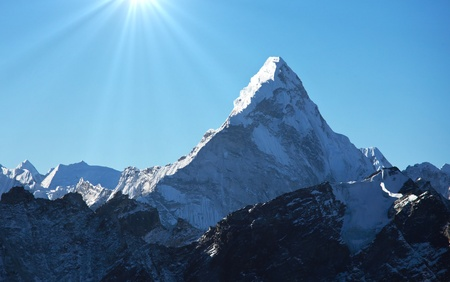 mountain peak: AmaDablan Mountains in Sagarmatha region,Himalaya