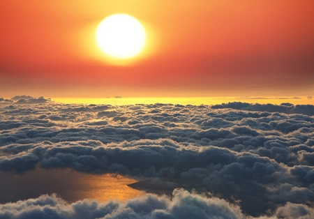 View from Haleakala  on Hawaii island of Maui photo