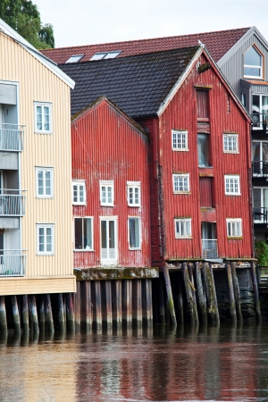 Cityscape of Trondheim, Norway Stock Photo - 13611369