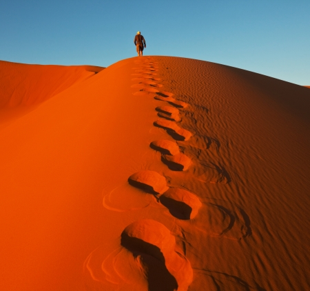 Hike in Namib desert photo