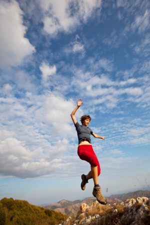 Jumping boy Stock Photo - 13876937