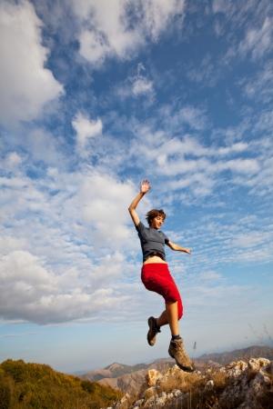 Jumping boy Stock Photo - 13876937