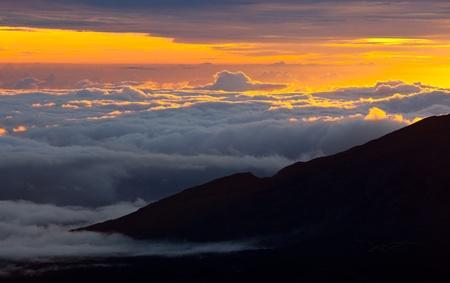 above the clouds: View from Haleakala  on Hawaii island of Maui