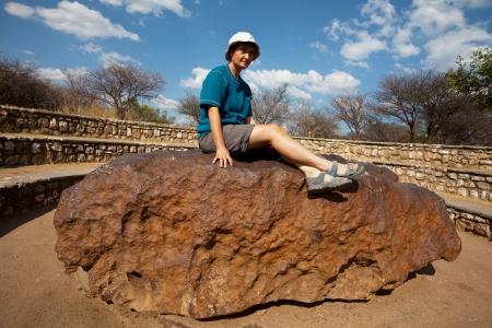 Hoba, en Namibia meteorito