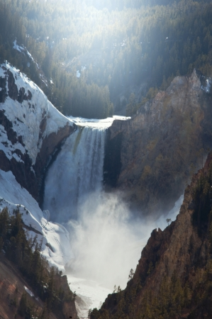 Lower fall of Yellowstone fiver photo