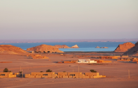 world village: Wadi Halfa city in Sudan