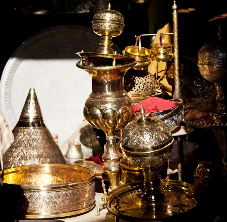 metall: crafts in moroccan market