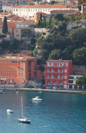 View of luxury resort and bay of Cote d'Azur in France. photo