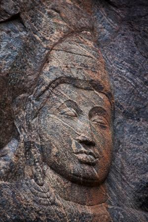 Carving in buddhist temple Buduruvagala, Sri Lanka photo