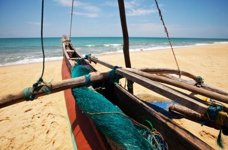 sri lanka: Fishing boat on  Sri Lanka