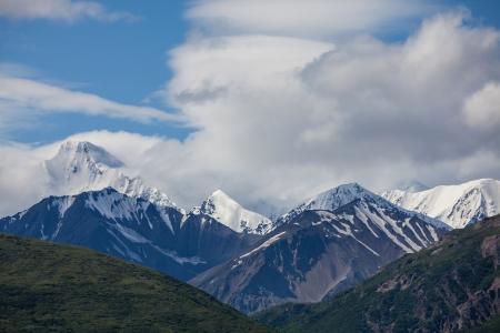 alpine tundra: mountains on Alaska