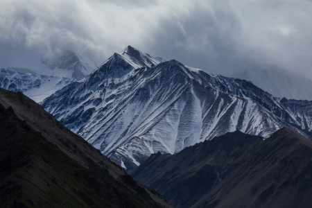 denali: mountains in Denali National Park  on Alaska