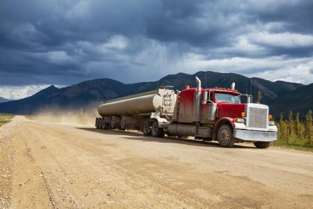 truck on Alaska photo