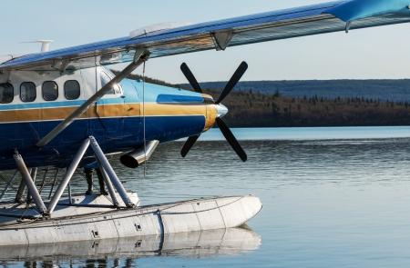 float cloud: airplane on Alaska