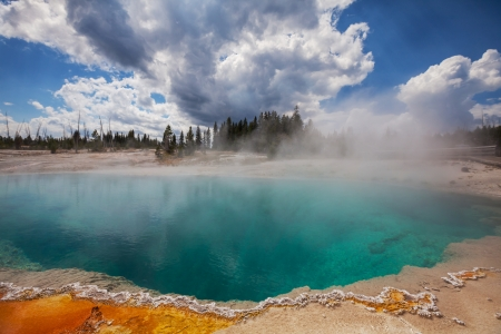 hydrology:  West Thumb Geyser Basin in Yellowstone National Park