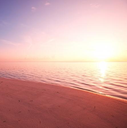 beach sunrise: Maldives serenity