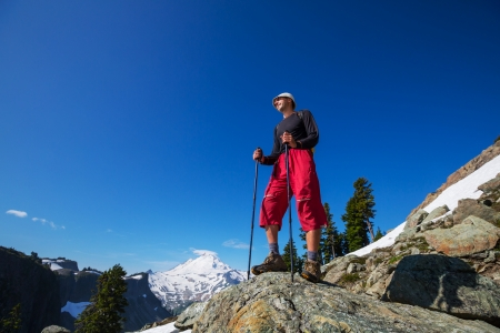 hiking in Mt.Baker area, Washington photo