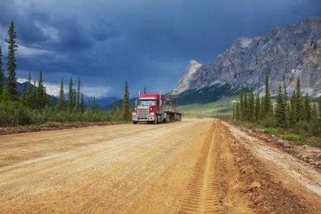 Dalton highway on Alaska photo