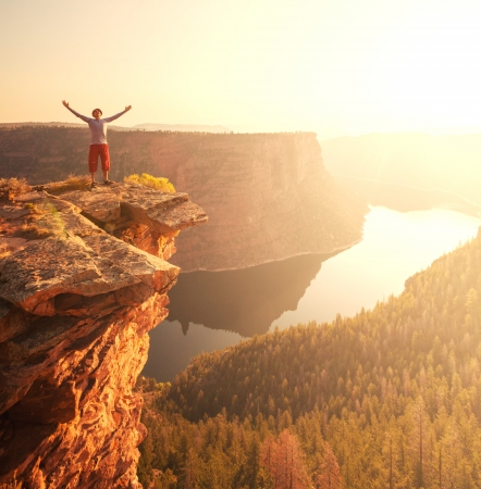man on the cliff Stock Photo - 15315815
