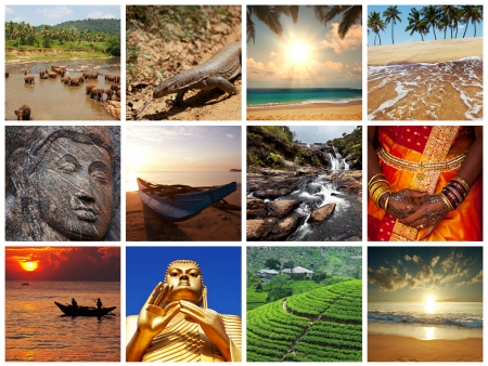 Sri Lanka scene collages photo