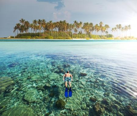 ocean sunset: Maldives safari