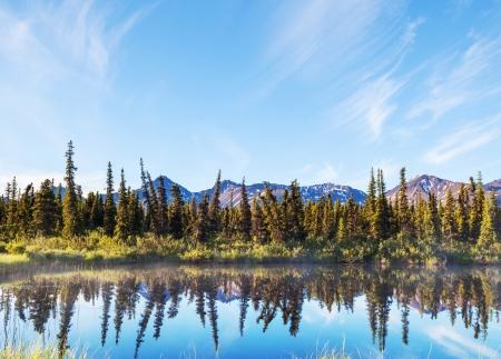 river in tundra on Alaska Stock Photo - 15819411