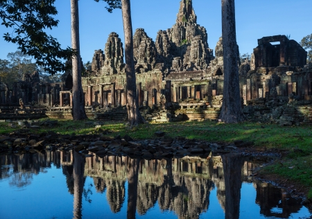 Bayon Temple in Angkor,Cambodia photo