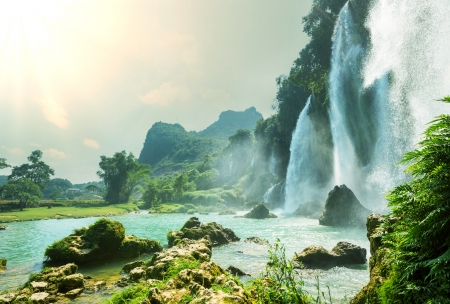 vietnam: Ban Gioc - Detian waterfall in  Vietnam