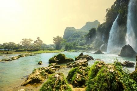 the natural world: Ban Gioc - Detian waterfall in  Vietnam