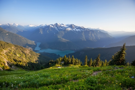 Diablo Lake,Washington Stock Photo
