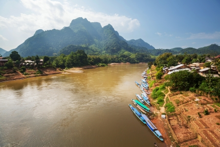 Vang Vieng in Laos Stock Photo