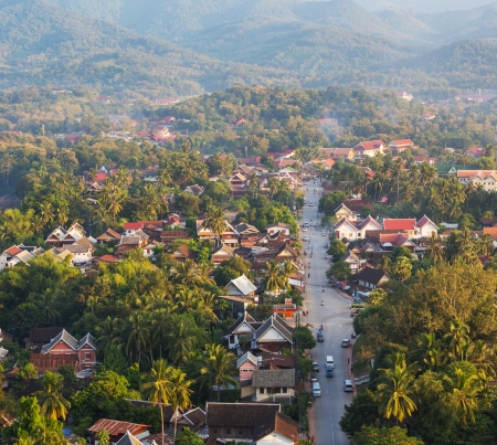 mekong: Luang Prabang above view,Laos