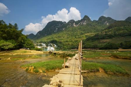 Ban Gioc - Detian waterfall in  Vietnam Stock Photo - 16823326